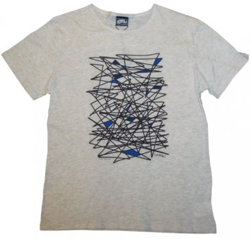 T-Shirt White Blue Optimism