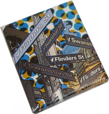 Canvas Art 20x25 Melbourne Street Signs Dots