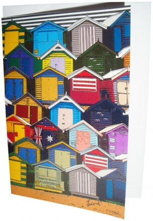 Greeting Card A6 Brighton Beach Boxes