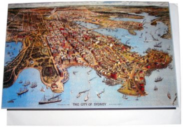 Greeting Card A6 City of Sydney Birdseye 1888