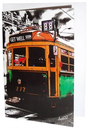 Greeting Card A6 Lucky Tram Get Well Soon