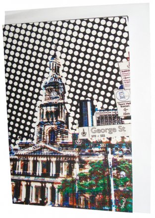 Greeting Card A6 Sydney Town Hall Dots