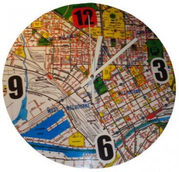 Clock 27cm Melways Map