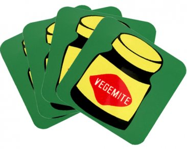 Coasters Set of 4 Vegemite Green
