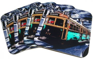 Coasters Set of 4 The Lucky Tram