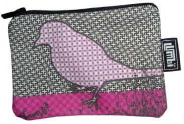 Ipod / Coin Case 13x9cm NAU Bird Pink