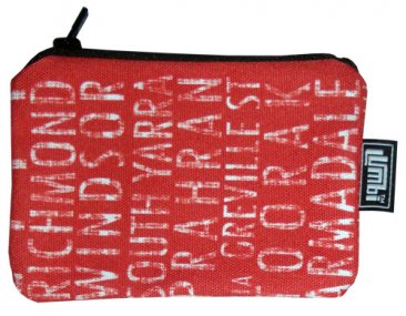 Ipod / Coin Case 13x9cm Melbourne Destinations Red