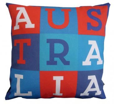 Cushion Australia Text RWB
