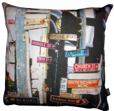 Cushion Richmond Signs Collage
