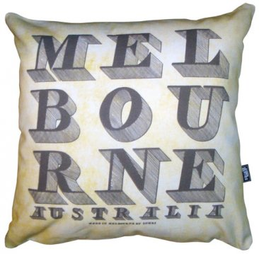 Cushion Vintage Text on Parchment (Melbourne & other capitals)