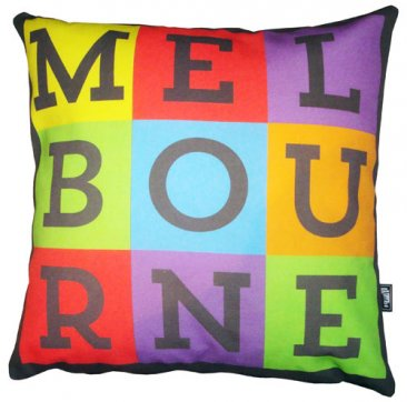 Cushion Melbourne Pop Art