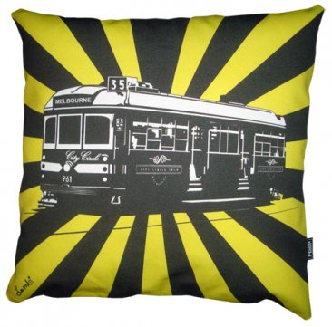 Cushion Tram Sunrise Yellow