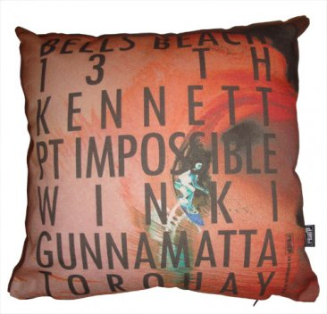Cushion Destination Surf Bells Orange