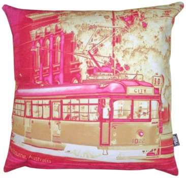 Cushion Tram Neg Magenta