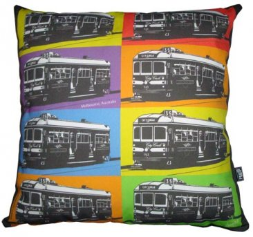 Cushion Trams Pop Art