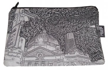 Pencil Case 18x10cm Flinders St Etchings