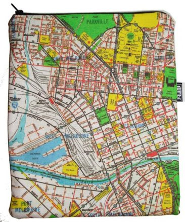 iPad Cover with Zipper Melway Map 1966 for Most Suburbs