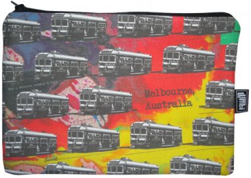 iPad Mini Cover with Zipper Trams on Spilt Ink