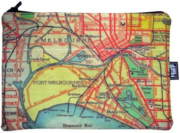 iPad Mini Cover with Zipper VR 1934 Melbourne & Suburbs Map