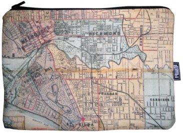 iPad Mini Cover with Zipper Whiteheads 1887 Map of Melbourne