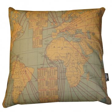 Cushion Trade Route World Map Globe