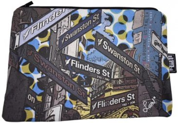 Makeup Case 24x16cm Melbourne Street Signs Dots