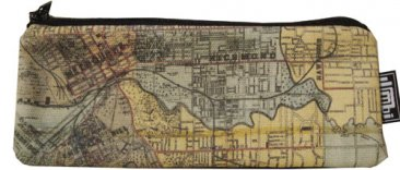 Glasses Case 19x8cm Whiteheads 1887 Map of Melbourne