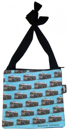 Mino Bag 19x19cm Trams Blue