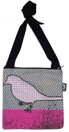 Mino Bag 19x19cm NAU Bird Pink
