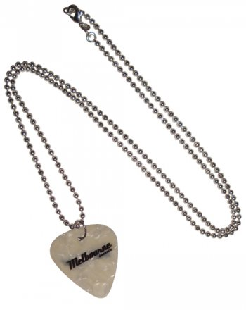 Guitar Pick Necklace White Melbourne since 1835