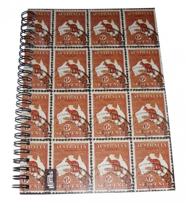 Notebook A5 Kangaroo Stamps