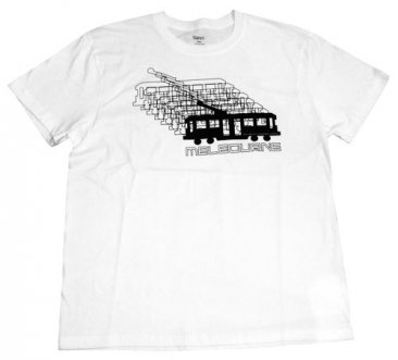 T-Shirt Omni Tram Trails White Cotton