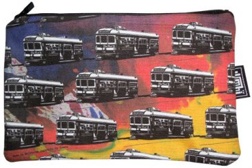 Pencil Case 18x10cm Trams on Spilt Ink