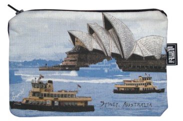 Pencil Case 18x10cm Sydney Harbour Blue