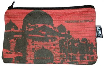 Pencil Case 18x10cm Flinders St Red