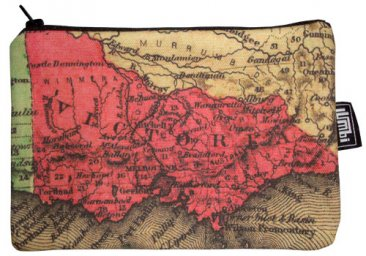Pencil Case 18x10cm Old Victoria Map