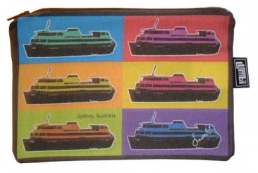 Pencil Case 18x10cm Pop Art Ferries