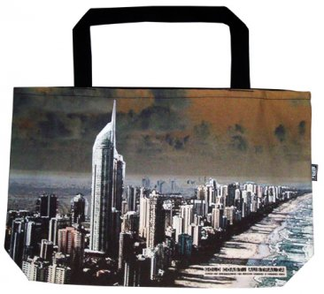 Shopper Bag 30x40x10cm Gold Coast Costline