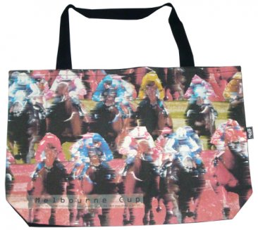 Shopper Bag 30x40x10cm Melbourne Cup Red