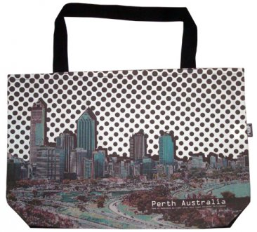 Shopper Bag 30x40x10cm Perth Dots