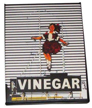 Art Canvas 20x25cm Skipping Girl