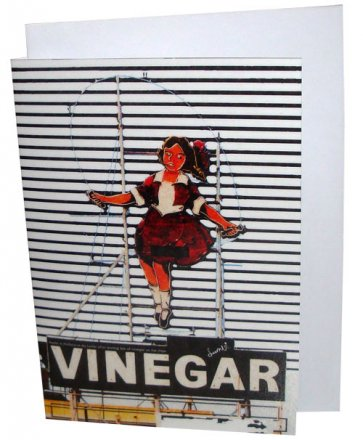Greeting Card A6 Skipping Girl
