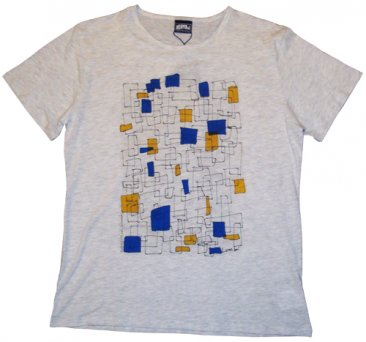 T-Shirt White Square Shapes
