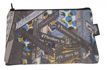 Pencil Case 18x10cm Melbourne Street Signs Dots