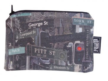 Pencil Case 18x10cm Sydney Street Signs