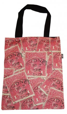 Tote Bag 40x33cm Pence Stamp Red
