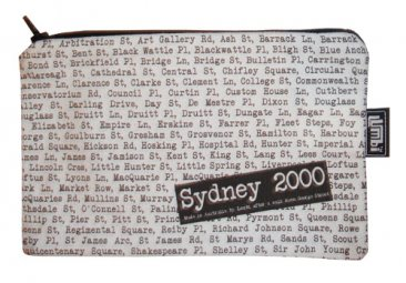 Pencil Case 18x10cm Sydney Streets White