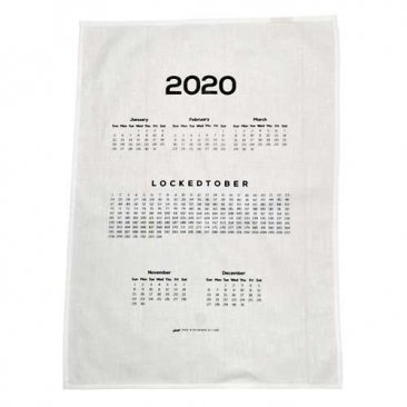 Tea Towel 50x70cm Linen/Cotton Lockedtober 2020 Calendar