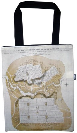 Tote Bag 33X40cm Adelaide City Plan Map