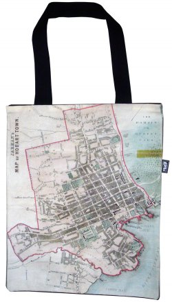 Tote Bag 33X40cm Jarman's Hobart Town Old Map
